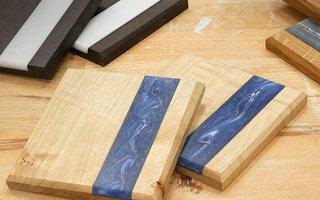 wood epoxy coaster