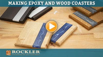 epoxy and wood coaster project