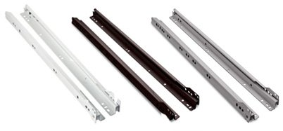 Epoxy-style drawer slides in three different color choices