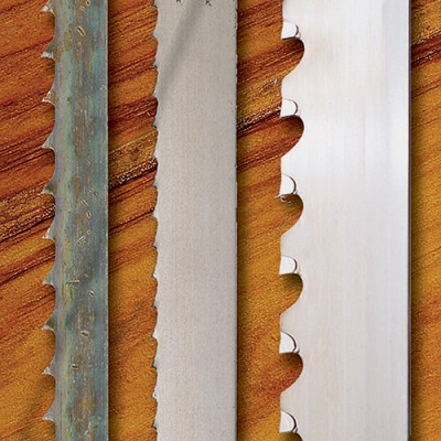 Three different band saw blades that could be used for resawing