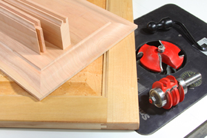Rail and stile cabinet doors and router bits