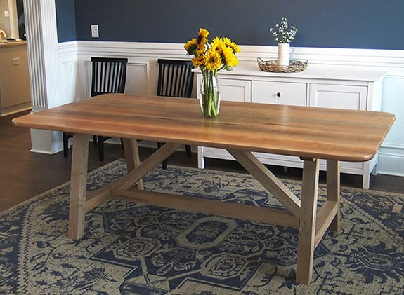 finished farm house table