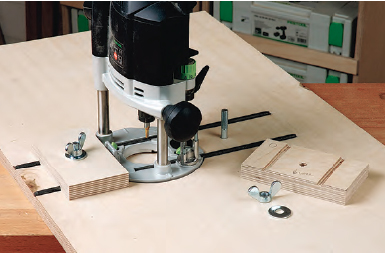 fasten router table blocks