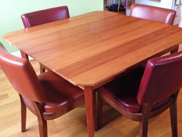 Kitchen table finish with a waxy, sticky build-up