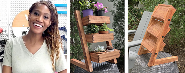Char Miller-King and finished plant stand