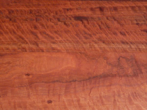 Wood from a sideboard with lightly marred finish