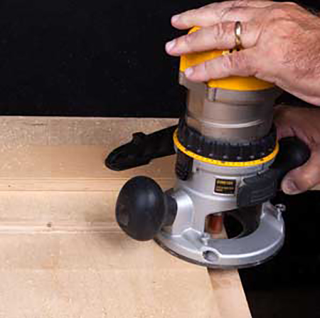Completing dado cut with router