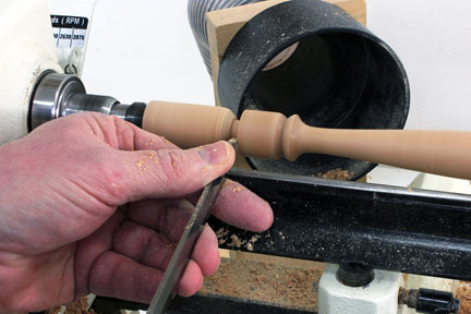 Finishing spindle reproduction by separating with parting tool