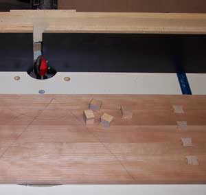 Fitting small dovetail inlays in tea tray settings
