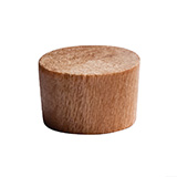 Wood screw plug for concealing countersunk holes
