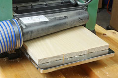Using a planer to even out pieces of glued-up panel