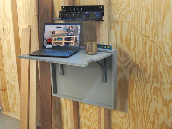 Folding workshop desk woodworking project