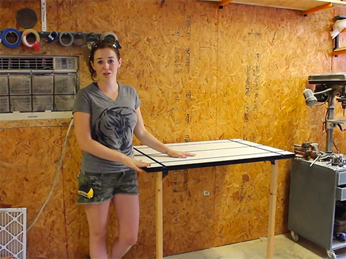 April Wilkerson's folding workshop table