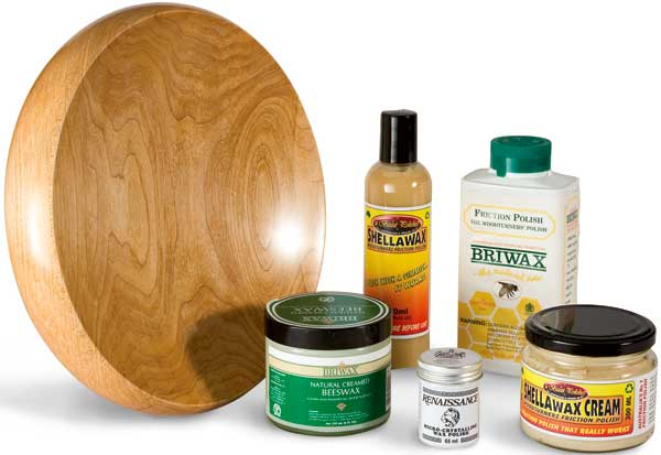 Samples of products used in friction finishes