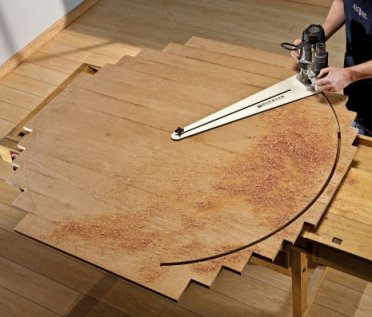 full size router circle cutting jig