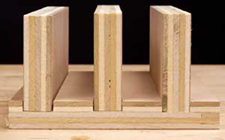 Demonstrations of proper and incorrect spacing on dado joints