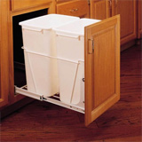 Pull-out storage for an under the counter garbage can