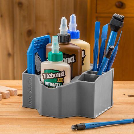Rockler glue and applicator kit storage caddy