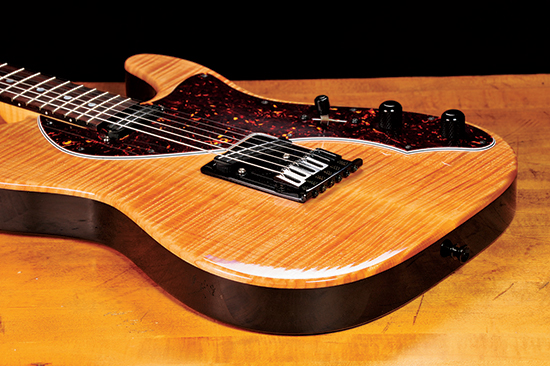 Guitar finished with glossy automotive polyurethane