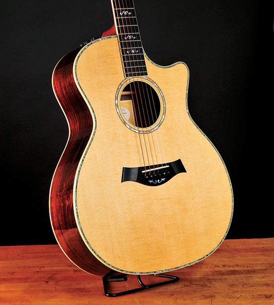 Taylor acoustic guitar with a uv cured finish