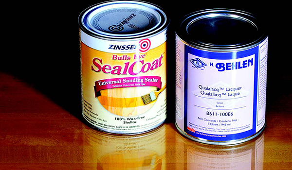 Cans of glossy finishes