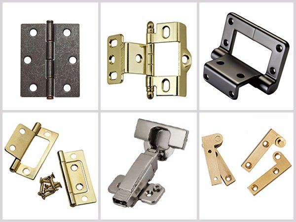 six types of hinges