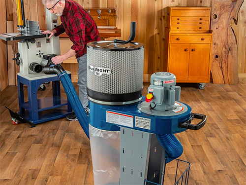 Hooking dust right dust collector to a router table in small shop