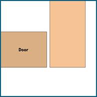 Inset cabinet door diagram