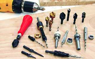 A variety of countersink bits