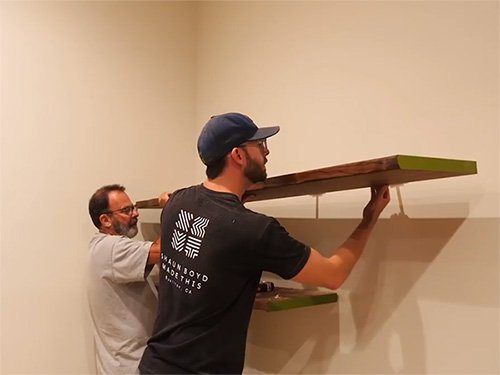 Hanging heavy duty floating wall shelves
