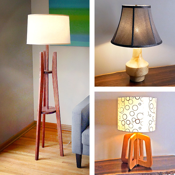 three wood lamp projects