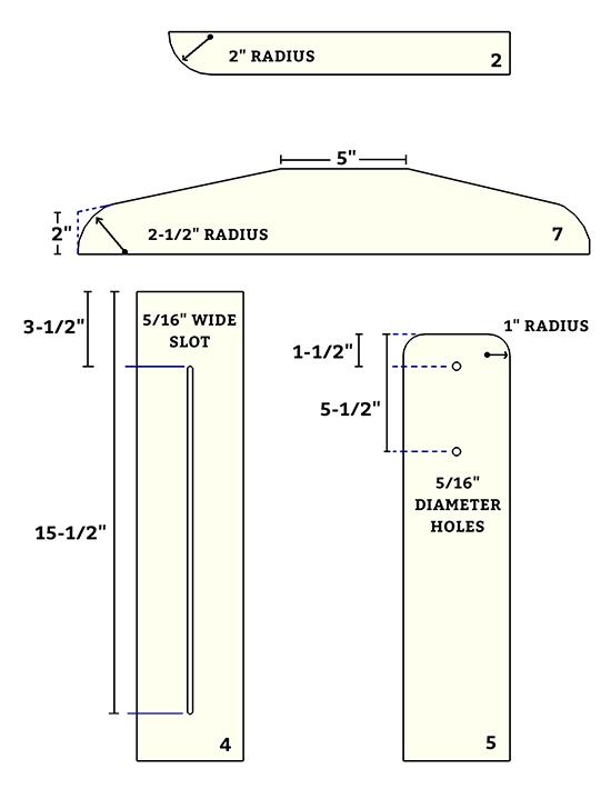 diagram showing part dimension details