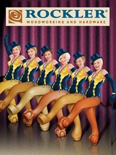 showgirl dancer legs catalog cover