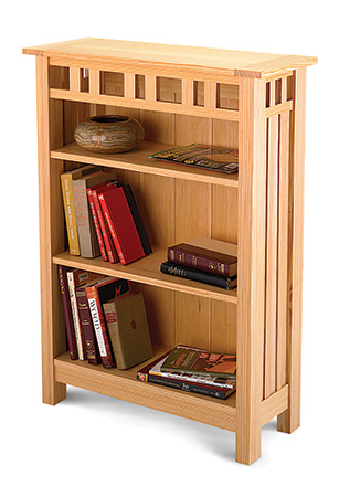 Small bookcase made from longleaf pine lumber