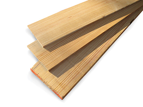 Stack of longleaf pine boards of various sizes