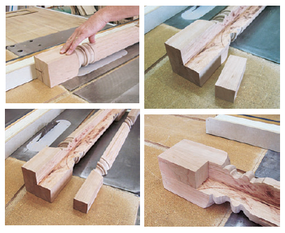 machining kitchen island legs and fillers