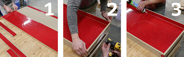 3 steps making a mold for epoxy pour