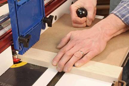 Making cross grain coping cut
