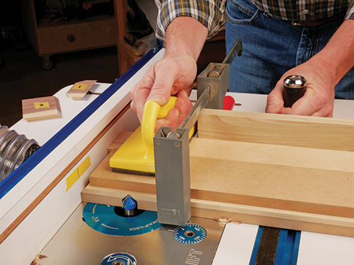 making passes on the wood router