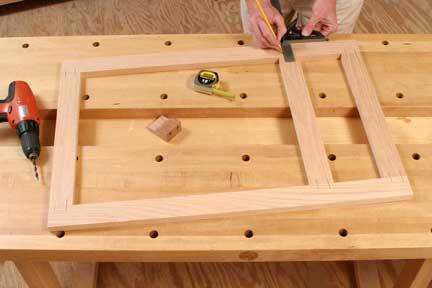 Marking face frame for installing dowel joints