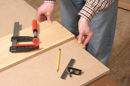 Marking cuts around crosscutting jig