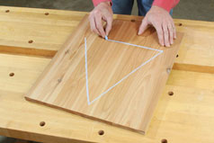 Draw a triangle pattern on the panel parts to help match them up later