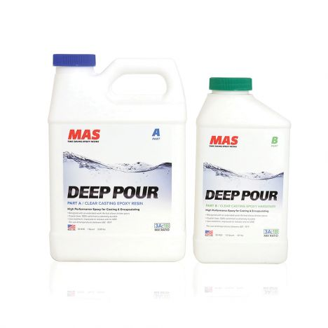 MAS deep pour epoxy bottles