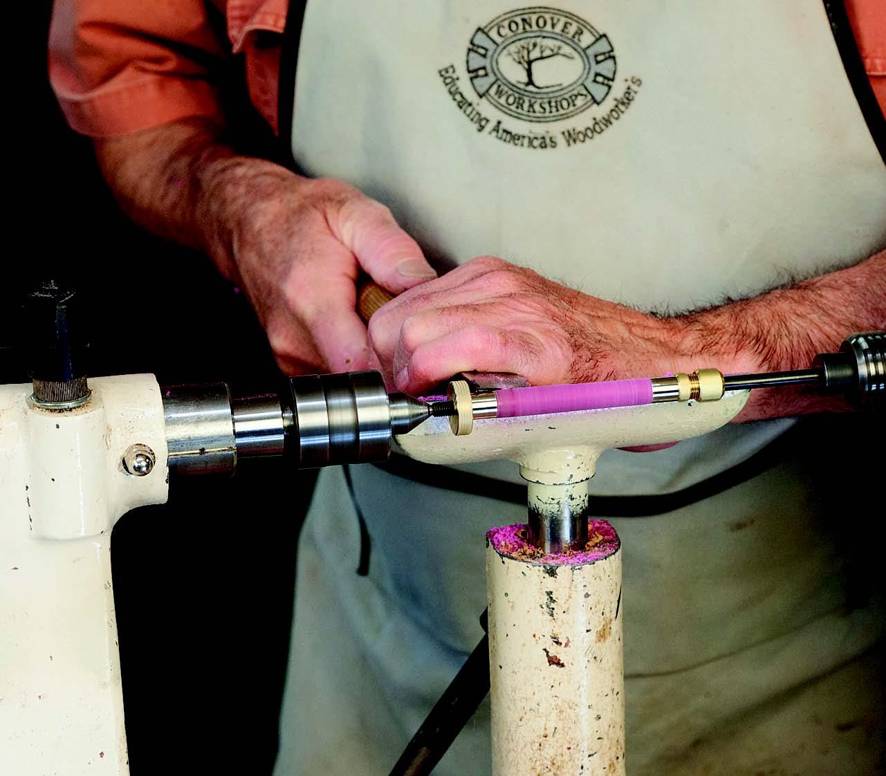 Using bushings to help measure diameter of pen turning