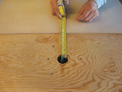 Measuring out intended radius for router table circle cut