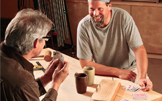 men playing cribbage