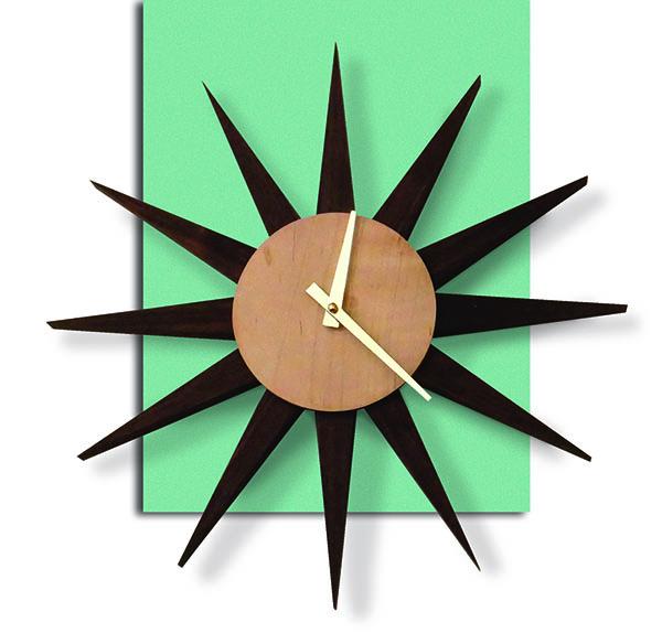 mid-century modern starburst clock project