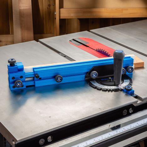 Rockler miter gauge fence for precision miter gauge