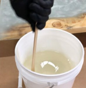 Mixing final batch of Table Top Pro epoxy