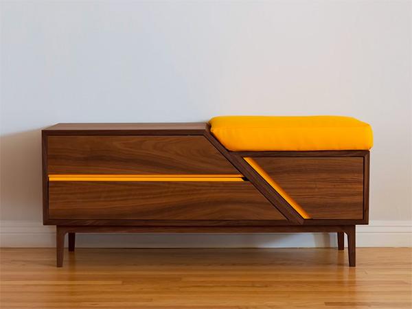 Modern style shoe storage bench